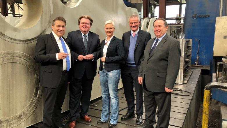 Voussem und Fuchs-Dreisbach bei der Firma Jung Grossmechanik