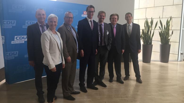 Gespräch im Landtag zur Schwerlastproblematik