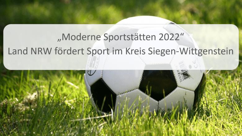 Fördermittel für Moderne Sportstätten in Siegen-Wittgenstein