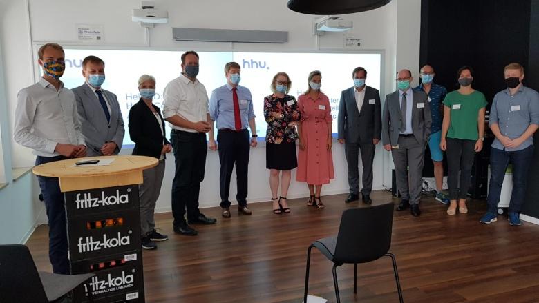 Besuch der CDU-Ausschussmitglieder Digitalisierung und Innovation im HeiCAD.