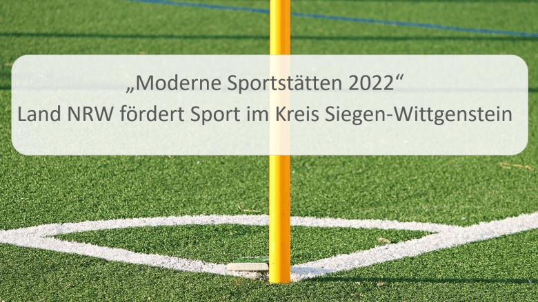 Moderne Sportstätte 2022 Mittel für den VfB-Banfe 1920 e.V.