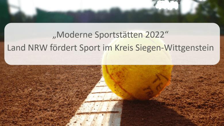 Moderne Sportstätte 2022 Fördermittel für Erndtebrück
