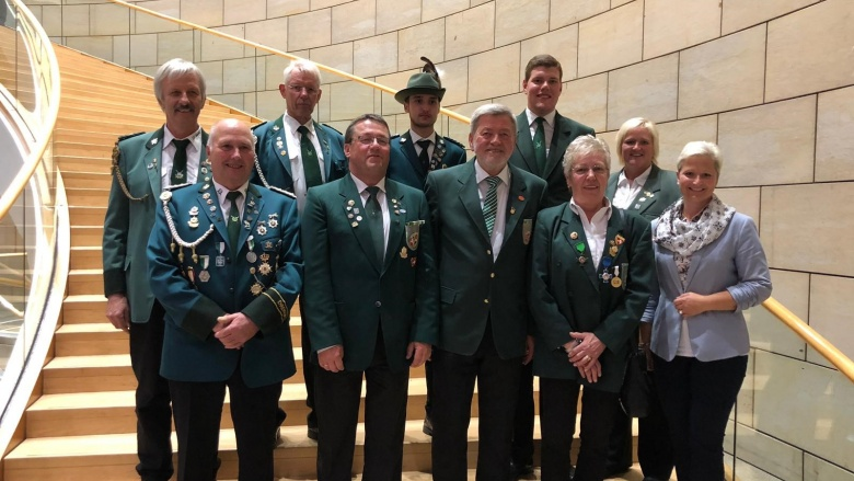 Vertreter der Wittgensteiner Schützenvereine im Düsseldorfer Landtag.