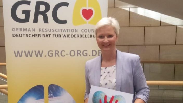 Anke Fuchs-Dreisbach beim Deustchen Rat der Wiederbelebung