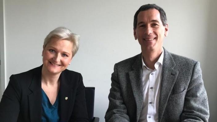 MdLs Anke Fuchs-Dreisbach und Jens Kamieth
