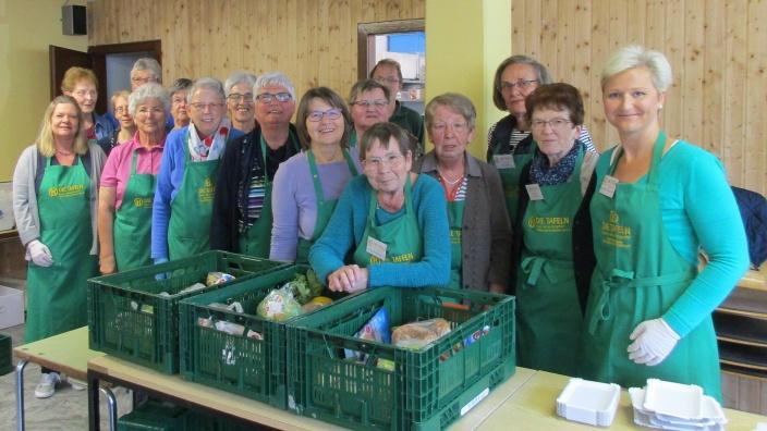 Anke Fuchs-Dreisbach zu Besuch bei der Berleburg-Erndtebrücker Tafel