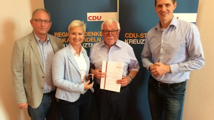 Anke Fuchs-Dreisbach bei der CDU Mitgliederversammlung in Kreuztal