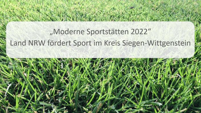 Moderne Sportstätte 2022 Mittel für Kreuztal