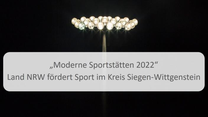 Fördermittel Moderne Sportstätte 2022