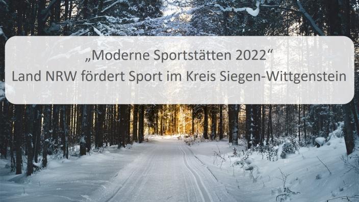 Fördermittel Moderne Sportstätte 2022 für Bad Berleburg