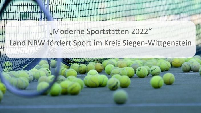 Moderne Sportstätte 2022 Fördermittel für den Tennisclub Rot-Weiß Lassphe