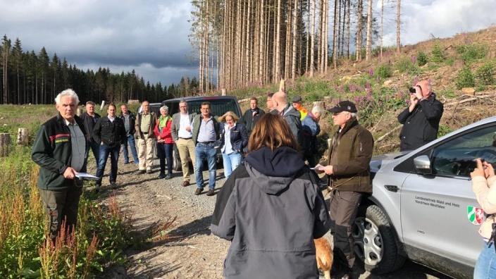 Waldbegehung der Berleburger CDU in Elsoff
