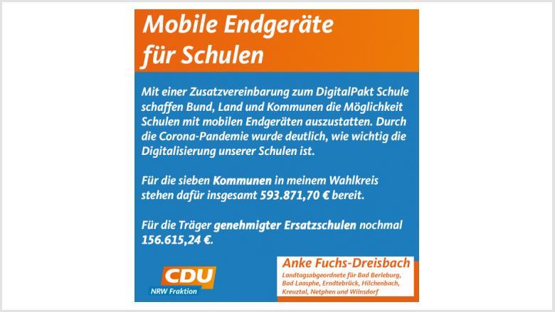 Mobile Endgeräte für Schülerinnen und Schüler