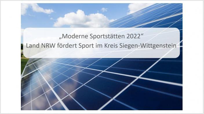Moderne Sportstätte 2022 Fördermittel für Hilchenbach